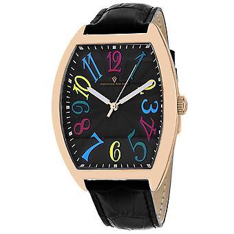 Christian Van Sant Men's Royalty II Black Dial Watch - CV0375