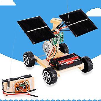 Diy Solar Car, Langaton kauko-ohjattava ajoneuvomalli, Lasten lelu, Opiskelija,