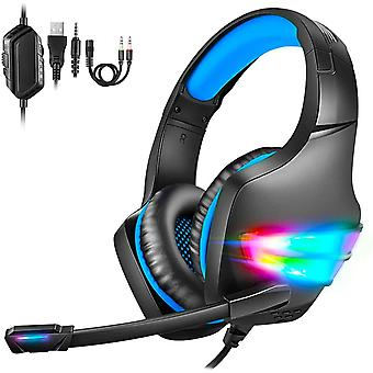 FengChun Gaming Headset PS4, Over Ear Gaming Kopfhörer mit Mikrofon, Gaming Headset PC, PS5 Headset