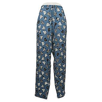 Enhver Kvinders Børstet Jersey Trykt Blå A387702Pajama Bukser