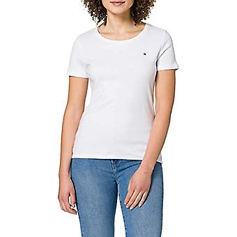 Tommy Hilfiger Slim Round-NK Top SS Baby and Baby Tank Top, White, XXL Woman