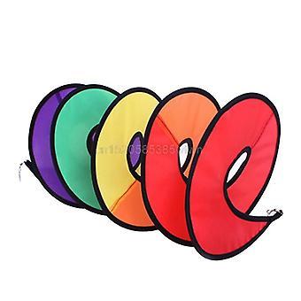 Dobrável Rainbow Spiral Windmill Wind Spinner Home Garden Decor Kids Toy.