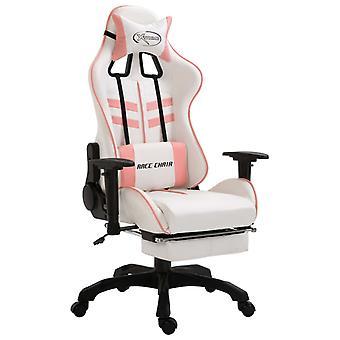 vidaXL gaming stoel met voetsteun roze kunstleer