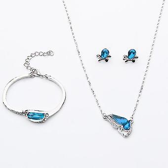 Top-Qualität elegante österreichische Kristall Tropfen Schmuck Sets