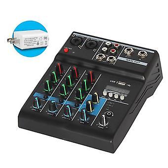 Professionele audiomixer 4 kanalen Bluetooth-geluidsmengconsole voor karaoke