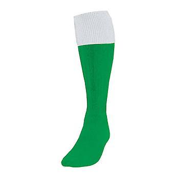 Precision Omsætning Fodbold Sokker Emerald / White UK Størrelse 7-11