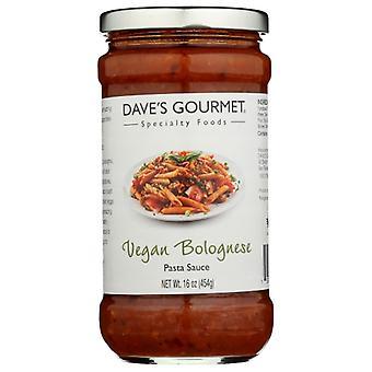 Daves Gourmet Sauce Pasta Bolognese Vgn, tilfælde af 6 X 16 Oz