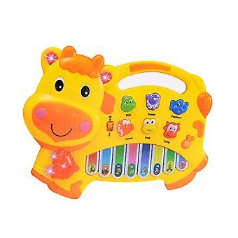 Cartoon Cow Animal Farm Keyboard Piano Baby Piano Music Toy