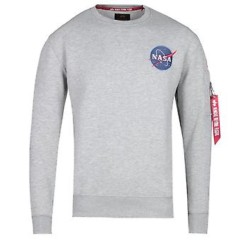 Alpha Industries Space Shuttle Crew Neck Sweatshirt - Grey