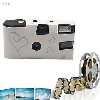 Retro Kamera 36 Kuvat Kertakäyttöinen Film Kamera ManuaaliNen Fool Optinen Kamera