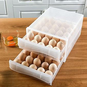 Plastová priehľadná škatuľa na knedle Dvojvrstvová vaječná tácka