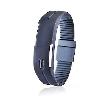 Charming Wristwatches Silicone Led Sports Bracelet Touch(Gray)