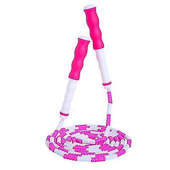 Weiches Perlen-Springseil mit verstellbarem Abschnitt Springseil ohne Verwicklungen (rosa)
