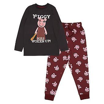 Oficiální děti Piggy Long Pyjamas Set probudil Chlapecké dívky PJs