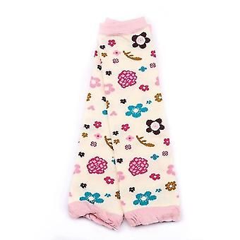 Cartoon Soft Socks Crawling Kniepolster - Newborn Floral Printing WinterBein