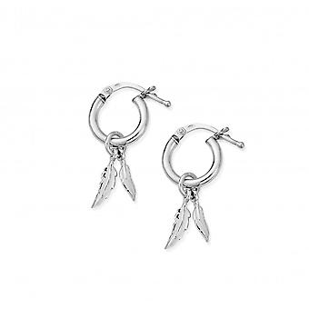 ChloBo Double Feather Small Hoop Boucles d'oreilles SEH584