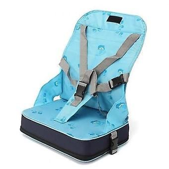 Portable Foldable Booster Seat Table Baby Child Meal  5 Point Harness Safety Travel Chair