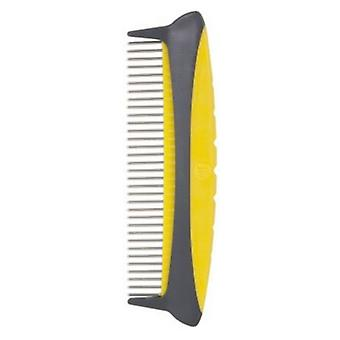 """JW Gripsoft Rotating Comfort Comb - Fine/Course Comb - 8"""" Wide"""