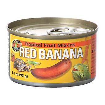 Zoo Med Tropical Friut Mix-ins Red Banana Reptile Treat - 4 oz