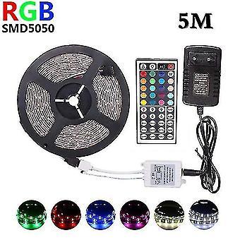 Led light bulbs rgb led strip light 5m 10m 15m 30leds/m smd5050 dc 12v tape ribbon diode flexible waterproof 44keys