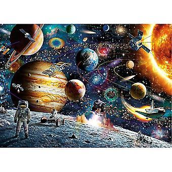 Card games 1000 pieces jigsaw puzzles education learning game puzzle adults - space planets