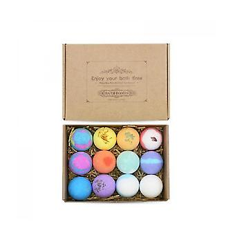 12pcs Bath Salt Ball Set Boxes Essential Oil Bubble Bath Ball