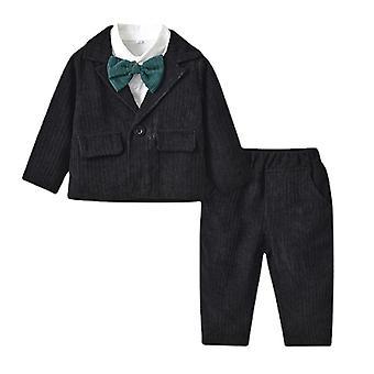 Baby Boy Gentleman Costum Ziua de nastere Petrecere Haine bumbac formală Outfit