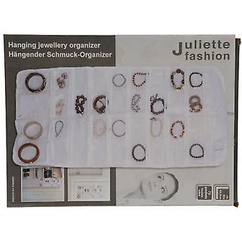 Hengende smykker Organizer armbånd ørering Ring kjede 72 Pocket veske Holder