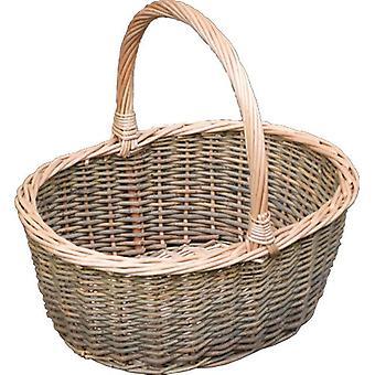 Pequeño sauce verde Hollander cesta de compras
