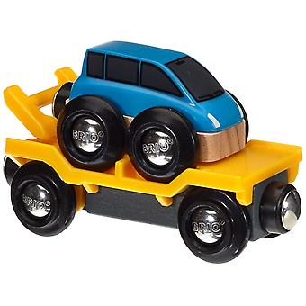 BRIO bil Transporter - blå