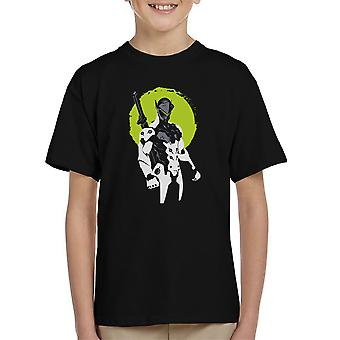 Factorio Genji grön Kid's T-Shirt