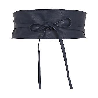 KRISP Womens Soft Faux Leder Self Tie Wrap Around Obi Waist Band Cinch Belt