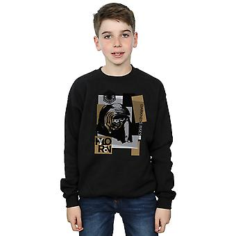 Star Wars Boys The Last Jedi Kylo Ren Patchwork Sweatshirt