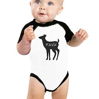 Fawn söpö vauva Baseball Body musta hiha puuvilla vauvan Raglan