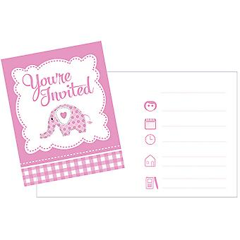 Creative Party Baby Sweet Elephant Invitations (Pack Of 8)