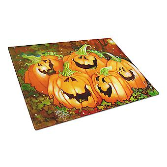 Such a Glowing Personality Pumpkin Halloween Glass Cutting Board Large