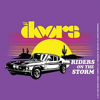 The Doors Coaster Riders on the storm new Official 9.5cm x 9.5cm single cork