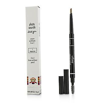 Sisley Phyto Sourcils Design 3 In 1 Brow Architect Pencil - # 1 Cappuccino - 2x0.2g/0.007oz