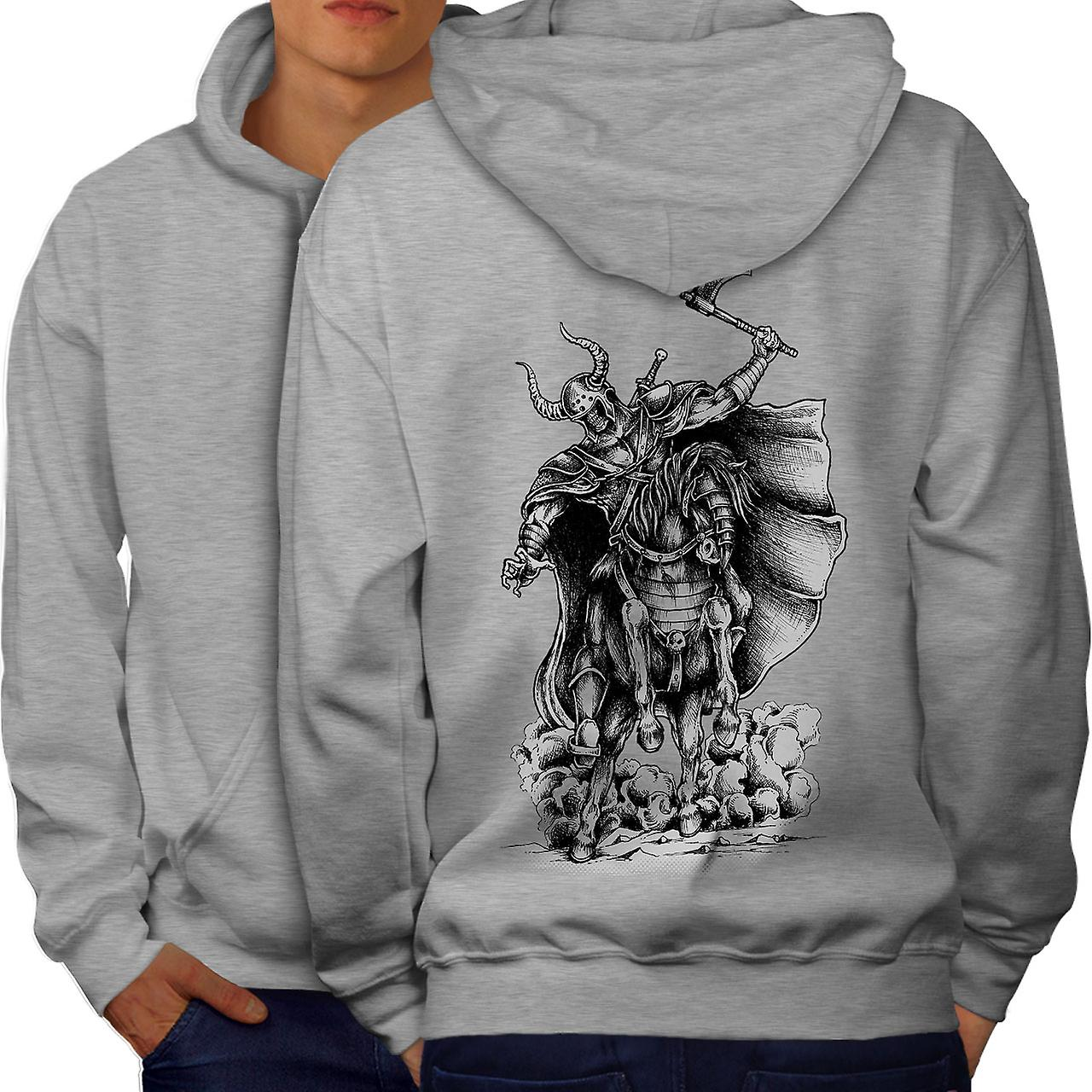 Casual Jumper wellcoda Old Warrior Geek Mens Sweatshirt