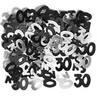 Unique Party 30th Birthday Black Confetti
