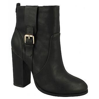 Anne Michelle Womens/Ladies Block Heel Ankle Boots