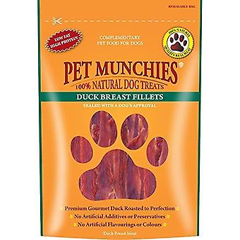 Pet Munchies Duck Fillet 80 Gram x 8 Packs Natural Dog Treats