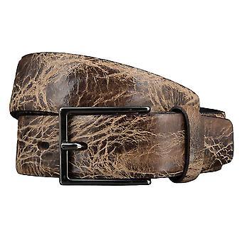 Correa de cuero de bovino cinturones hombre cinturones cuero Brown 3514