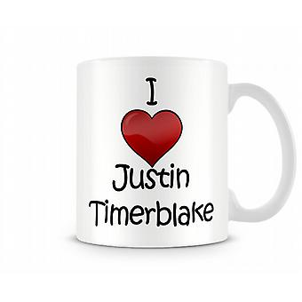Ik hou van Justin Timberlake bedrukte mok