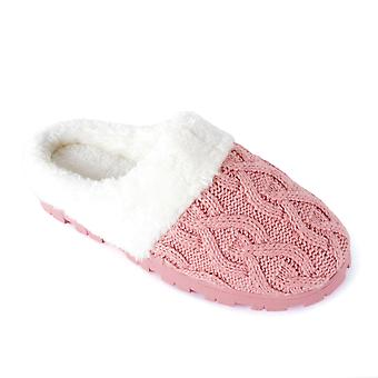SlumberzzZ Womens tricoté - Memory Foam Mule pantoufles