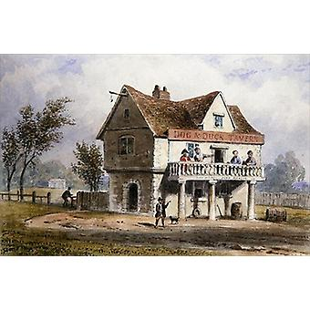A View of the Old Dog and Duck, St. George's.. - Art Print
