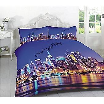 New York City multi 3D effekt Duvet quilt Cover NYC sengetøj sæt pudebetræk