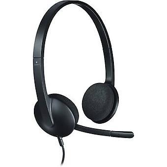 PC headset USB Corded, Stereo Logitech H340 On-ear Black