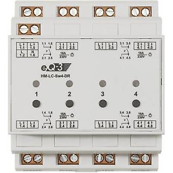 Homematic 132763A0 HM-LC-Sw4-DR2 Switch 4-channel DIN rail 3680 W