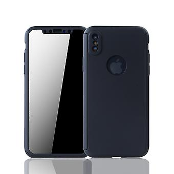 Apple iPhone X Caixa de proteção de caixas de telefone Caixa completa Tampa Tanque de Proteção vidro preto